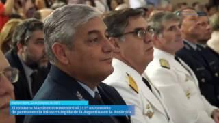 Martínez celebró el 113° aniversario de permanencia de Argentina en Antártida