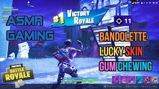 ASMR Gaming | Fortnite Bandolette Skin Relaxing Gum Chewing Sounds 🎮Controller Sounds + Whispering😴💤