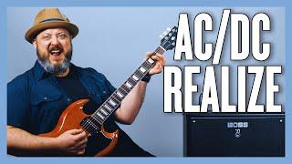 AC/DC Realize Guitar Lesson + tutorial