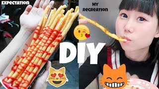 I Tried To Make Super Long Fries Challenge! Popular Street Food!