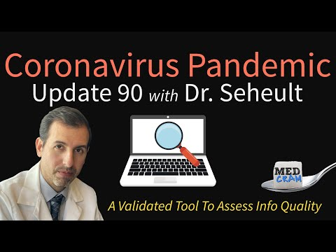 Coronavirus Pandemic Update 90: Assess The Quality of COVID-19 Info With A Validated Research Tool