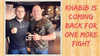 Khabib Nurmagomedov is coming back to the UFC
