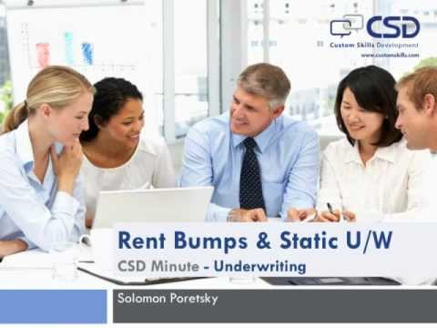 CSD Minute - Rent Bumps (Underwriting)