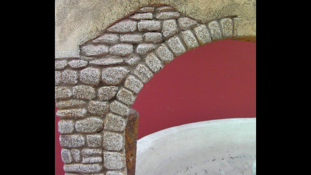 Imitaci n de arco de piedra para paredes imitation stone - Que cuadros poner en el salon ...