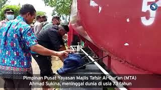 Detik-Detik Pemakaman Pimpinan MTA Ustaz Ahmad Sukina