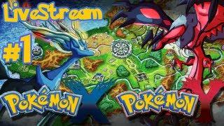 Pokemon X and Y : Pokemon X part 1 - LIVESTREAM