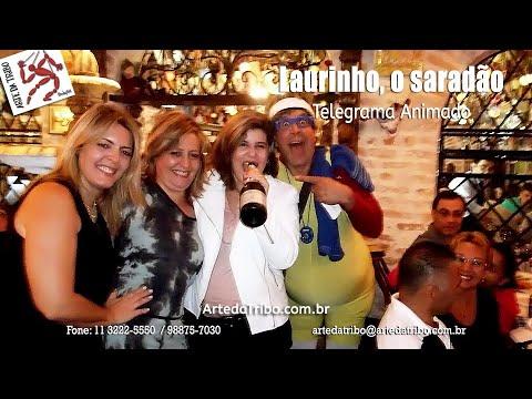 Arte da Tribo - Uma surpresa de suar a camisa de tanto rir, com Laurinho - o Saradão no aniversário da Tania Mara!