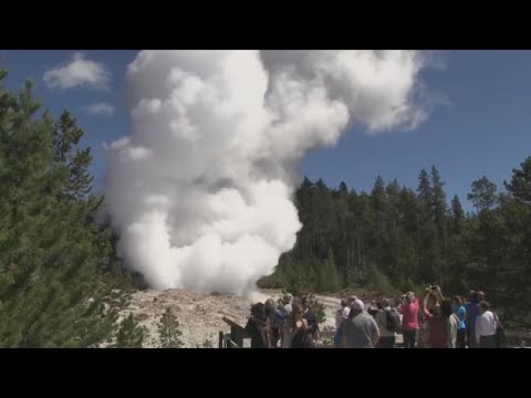 Scientists want to know why Yellowstone's Steamboat Geyser keeps erupting