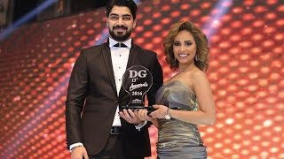 تكريم رنا سماحه و مينا عطا في مهرجان دير جيست 2016     -