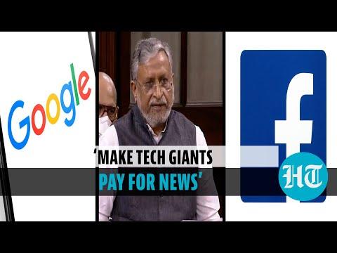 Make Google, FB, YouTube pay for news content: Sushil Modi in Rajya Sabha