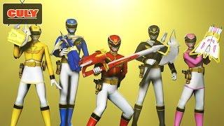 Bộ 5 anh em siêu nhân thiên sứ Goseiger Power rangers toy for kid đồ chơi trẻ em