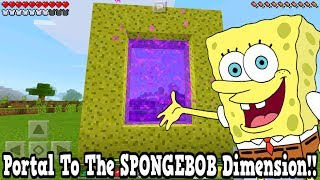 Minecraft Pe - Portal To The SpongeBob Dimension - Mcpe Portal To The SpongeBob SquarePants!!!