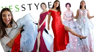 TRYING ON YESSTYLE PROM DRESSES!!!  *living out my 12th grade fantasy*