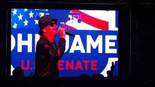 John James rally. Kid Rock singing