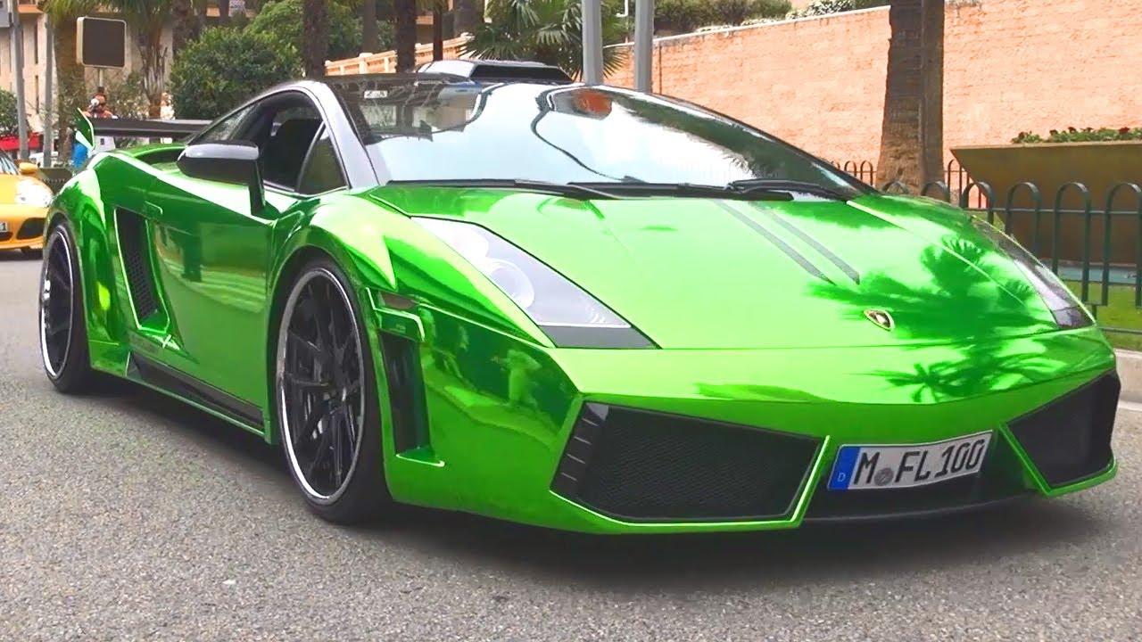 Lamborghini Gallardo Chrome Green Wrap Foliert Folierung