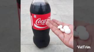 What will happen if we put mentos in coke?