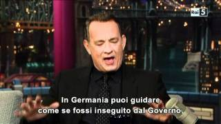 Tom Hanks al David Letterman Show