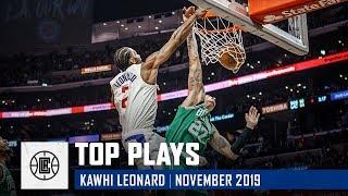 Kawhi Leonard's Top Plays of November | LA Clippers
