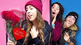 Her Secret Crush Sent her Flowers (Valentines Secret Admirer)