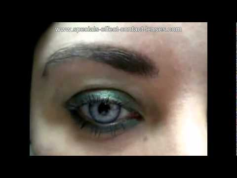 Beautiful Light Blue Grey Color Contact Lenses For Girl ...