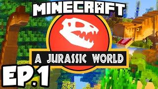 Jurassic World: Minecraft Modded Survival Ep.1 - DINOSAURS IN MINECRAFT!!! (Rexxit Modpack)
