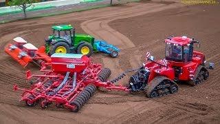 RC Tractors John Deere, Case and Fendt at work! Siku Farmland in Neumünster, Germany.