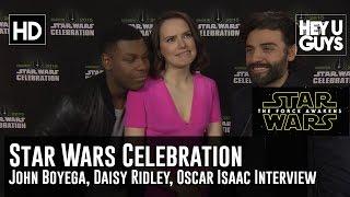 Daisy Ridley, John Boyega & Oscar Isaac Interview: Star Wars Celebration 2015