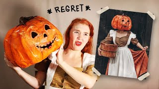 I Tried Making a Cute 'Pumpkin Lady' Costume... (except it's terrifying lol)