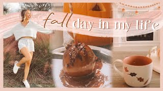 FALL DAY IN THE LIFE | halloween costume prep, homemade caramel apple, & cozy date night! ✨🎃
