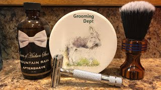 3 Jan 19 SOTD Grooming Dept Chyphre Conifere & Jeeves Mountain Rain