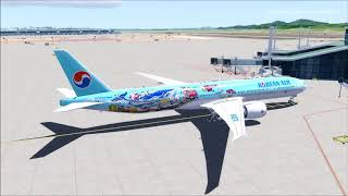 Korean air 011 KLAX-KLAS on vatsim,fsx,pmdg 777 - Music Videos