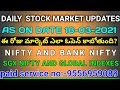daily stock market morning updates|as on 18-03-2021|nifty|bank nifty|sgx nifty updates