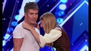 Simon Cowell Shows Amazing HEART Steps In To Save Dog Trainer | America's Got Talent 2017