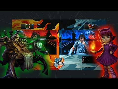 LAS vs CBLOL 1v1 Mode All-Stars Barcelona 2016. International Wildcard  All-Stars 2016 lol. League of Legends IWC AllStar VOD.