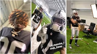 Henry Ruggs, Lynn Bowden,  Damon Arnette  Pull Up To Raiders Training Camp