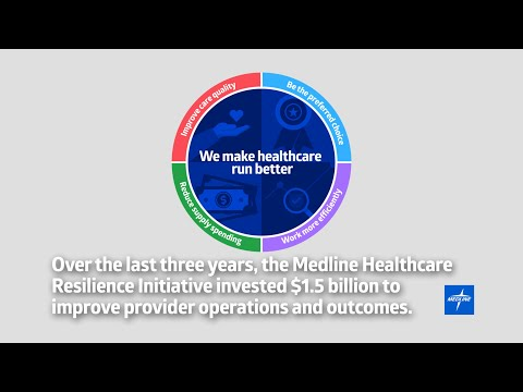 Over the past three years, Medline has invested $1.5 billion in domestic manufacturing, distribution, and IT to strengthen the country's healthcare supply chain. As the largest, privately owned medical supplies company in America, these investments are designed to drive more resiliency and sustainability to fulfill customers' needs today and for years to come.