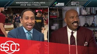 Steve Harvey joins Stephen A. Smith to give JR Smith some NBA Finals advice | SportsCenter | ESPN