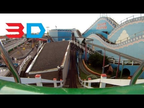 Roller Coaster 3D Front Seat on-ride HD POV Great Yarmouth Pleasure Beach