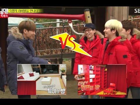 Running Man heechul vs leeteuk | heechul being hyungnim