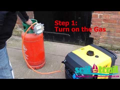 Kipor IG3000 LPG Recoil Pull Start Process by Sail and Trail
