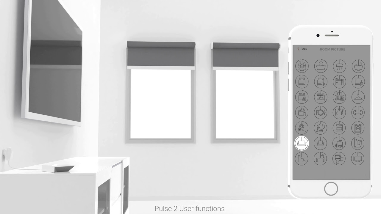 Pulse 2 Room creation and Shade Control