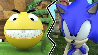 Pacman in Sonic world