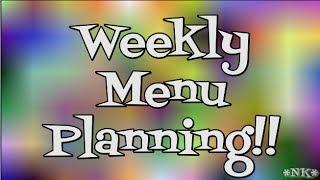 Weekly Menu Planning Primer!!  Noreen's Kitchen