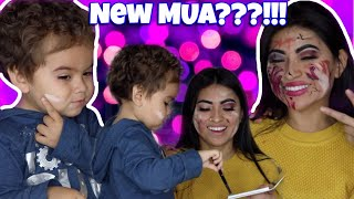 My 2yr OLD SON DOES MY MAKEUP!!