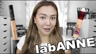 PARA SA OILY: INSTANT AGE REWIND O FIT ME CONCEALER? | LABANNE