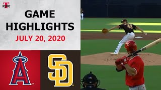 Los Angeles Angels vs. San Diego Padres Highlights   July 20, 2020 (Exhibition)