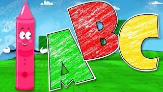 ABC Lied | Lerne Alphabete für Kinder | ABC Song | Crayons Nursery Rhymes Deutschland | Kinderlieder