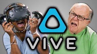 ELDERS REACT TO HTC VIVE (VR)