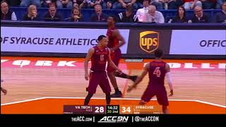 Virginia Tech vs Syracuse College Basketball Condensed Game 2017