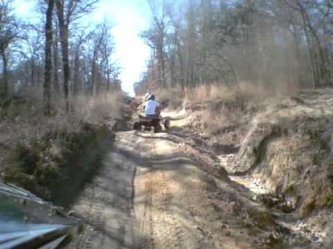 Atv trail riding at Lake Murray... Yamaha Raptor 700 and Outlaw 450